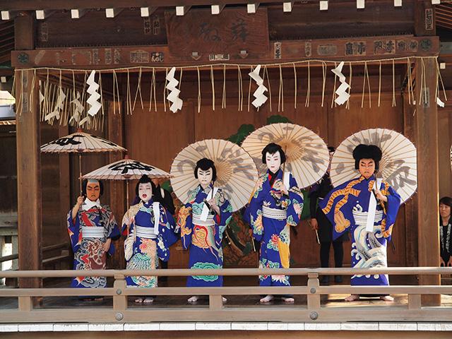 "Image of ""Shintomi-za Children's kabuki"" in Edo"